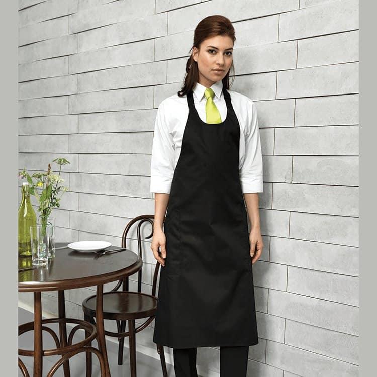 Wine Waitress with Black Sommelier Apron