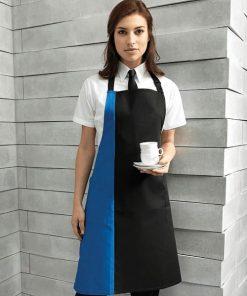 Waitress Contrast Bib Apron