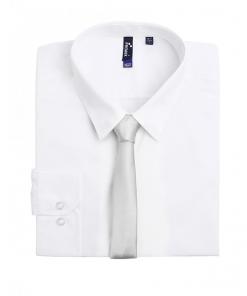 Slim Silver Tie