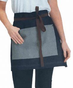 Denim Waist Apron with Pocket