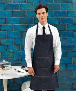 Waiter with Denim Bib Apron