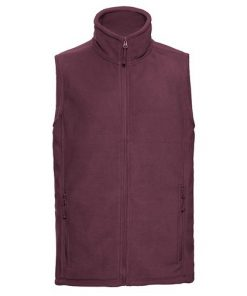 Burgundy Fleece Gilet