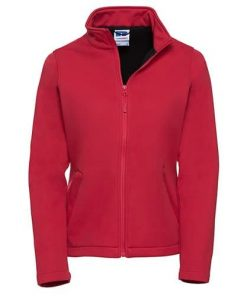 Ladies Red Softshell Jacket
