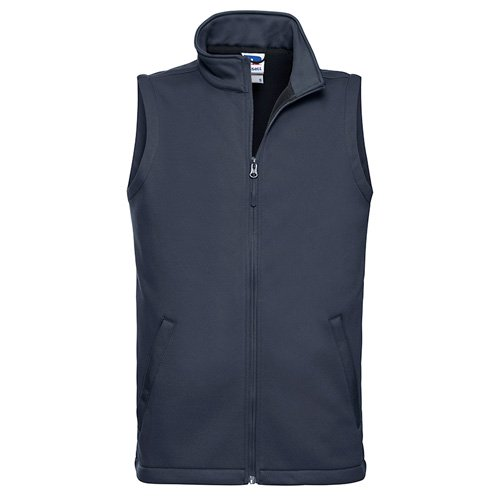 Navy softshell gilet