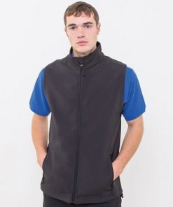 Man wearing black gilet