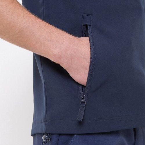 Close up of gilet pocket