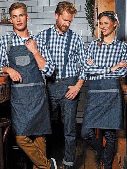 Waiter Contrast Denim Waist Apron