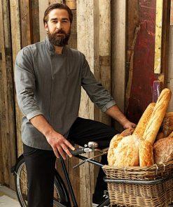 Chef wearing Denim Chefs Jacket