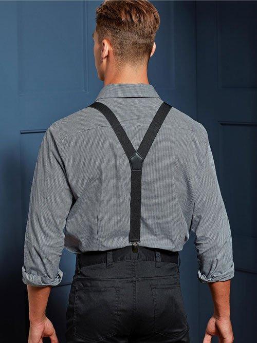 Black Clip on Trouser Braces