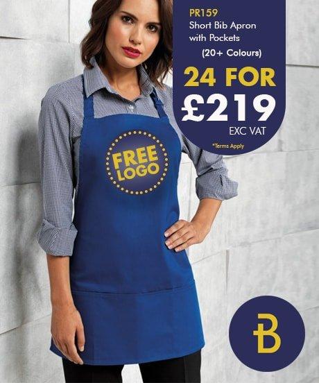 24 PR159 Apron Deal with Free Logo