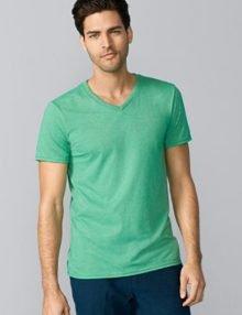 GD10 Gildan Softstyle V Neck T-Shirt Front Model