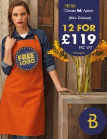 12 for £119 Bib Apron Deal