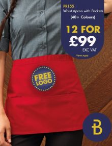 12 Waist Aprons for £99