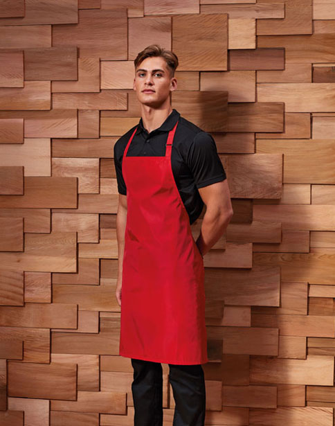 Waterproof Bib Apron Red