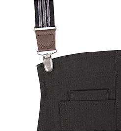 black/grey suspender straps