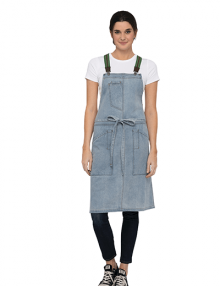 Denim Berkeley Bib Apron in Sky