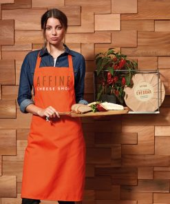 Cotton Bib Apron with Logo