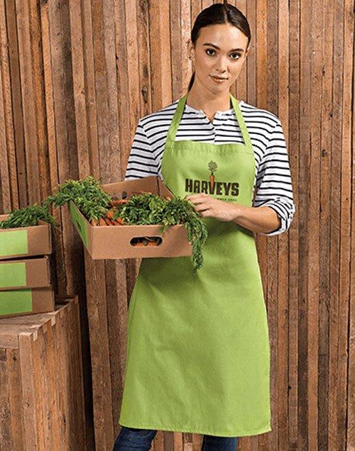 Waitress wearing cotton apron