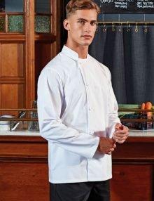Zipped short sleeve chef jacket