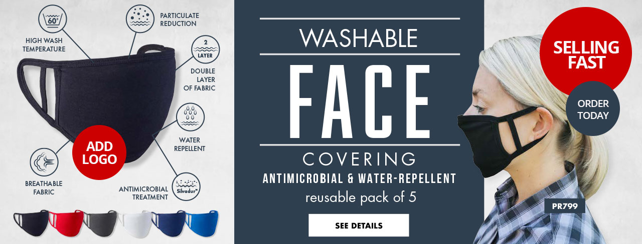 Hospitality Face Masks with Logo