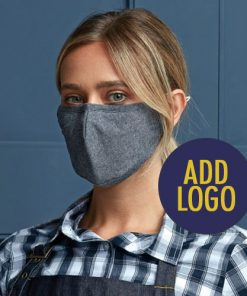 Fabric Face Mask with Printed Logo